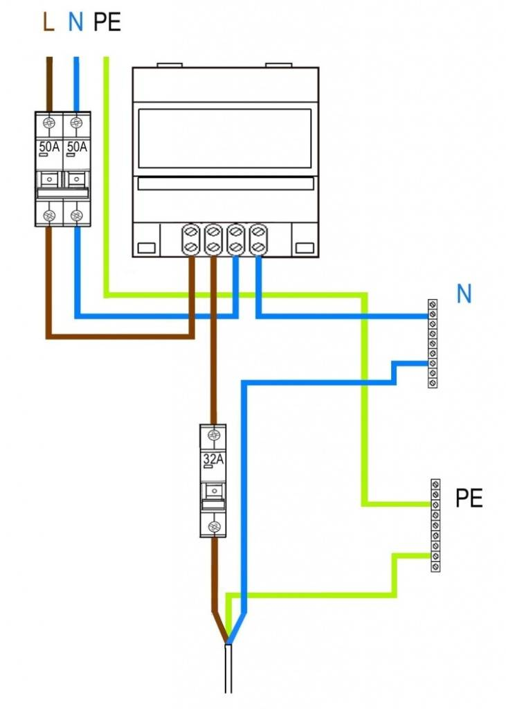 Трехэлементная схема включения счетчика фото 318